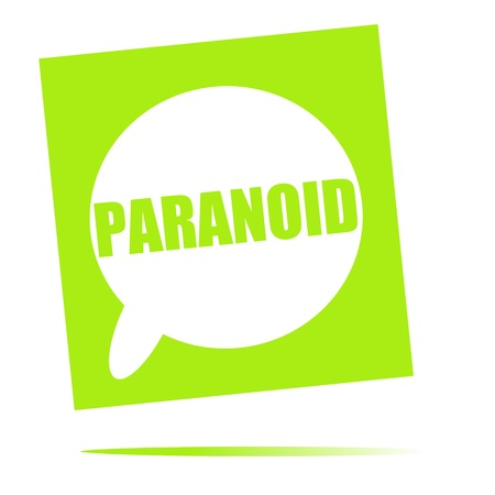 paranoid: PARANOID speech bubble icon