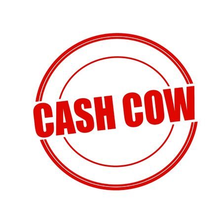 cash cow: Cash Cow red stamp text on circle on white background