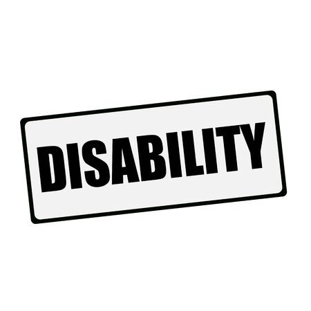 wording: DISABILITY wording on rectangular signs Stock Photo