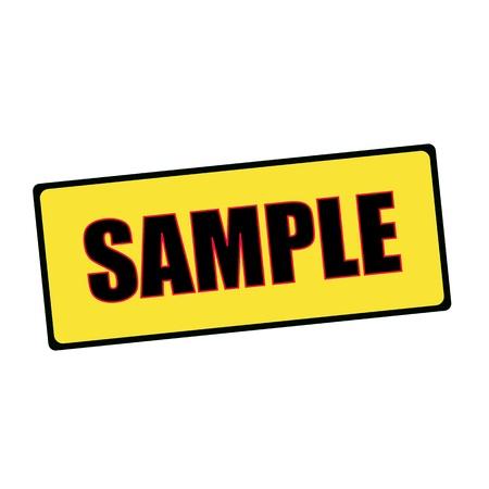 sample: sample wording on rectangular signs