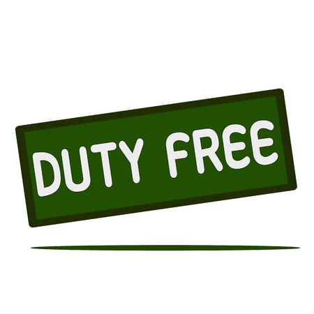 duty: DUTY FREE wording on rectangular signs