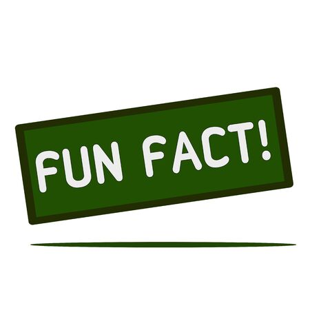 fact: fun fact wording on rectangular signs