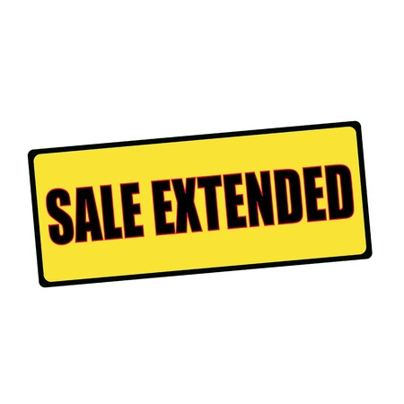 sale extended wording on rectangular signs