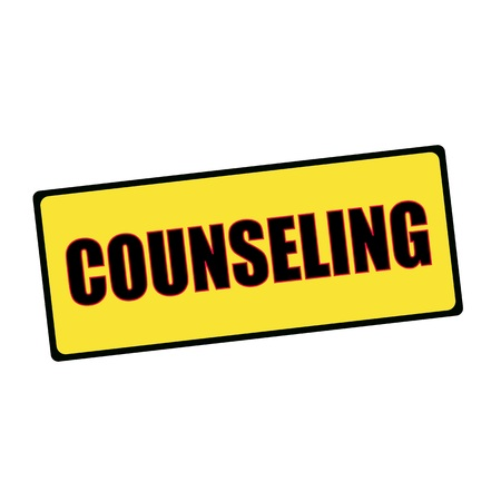 counseling: COUNSELING wording on rectangular signs