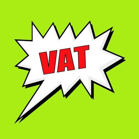 vat: vat wording speech bubble