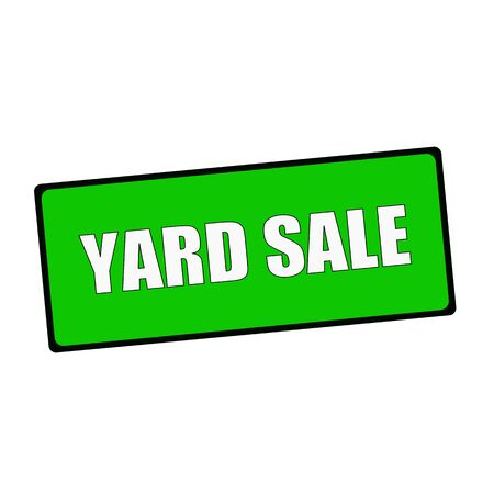 yard sale: yard sale wording on rectangular Green signs