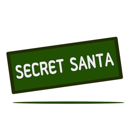 secret word: secret Santa wording on rectangular signs