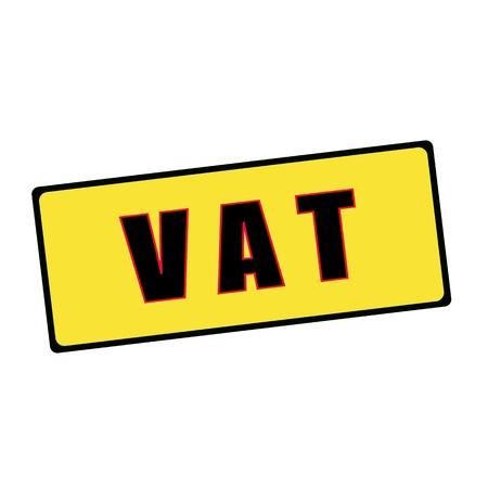 vat: Vat wording on rectangular signs