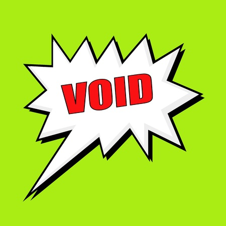 void: void wording speech bubble Stock Photo