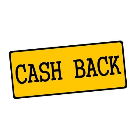cash back: Cash back wording on rectangular signs