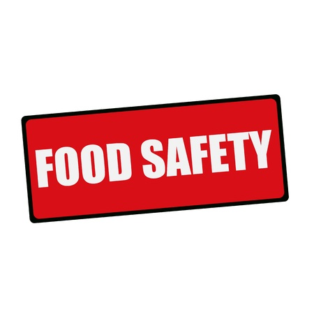 think safety: Food safety wording on rectangular signs