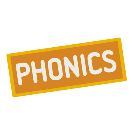 phonics: phonics wording on rectangular signs