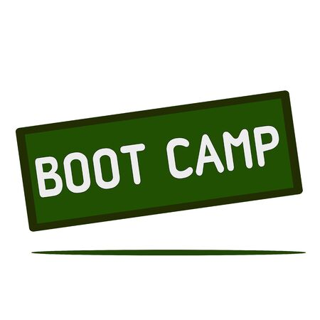 wording: Boot camp wording on rectangular signs