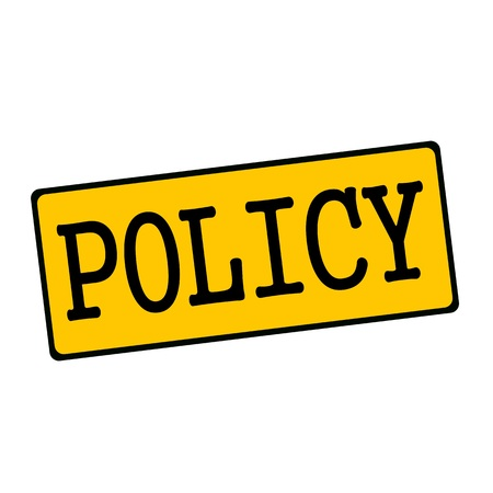 policy: Policy wording on rectangular signs