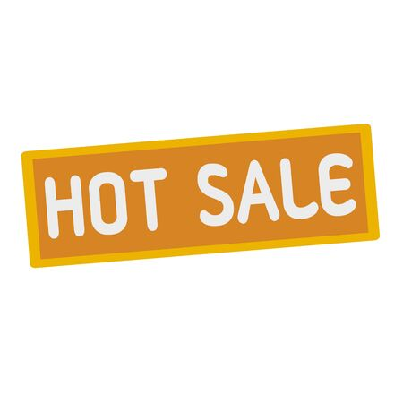 wording: Hot sale wording on rectangular signs Stock Photo