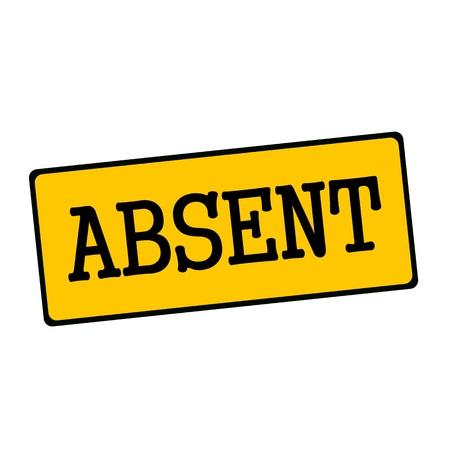 absent: Absent wording on rectangular signs