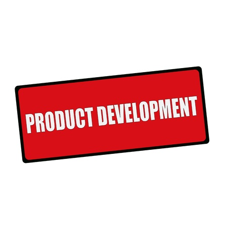 wording: PRODUCT DEVELOPMENT wording on rectangular signs Stock Photo