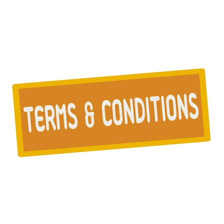 terms: Terms and conditions wording on rectangular signs