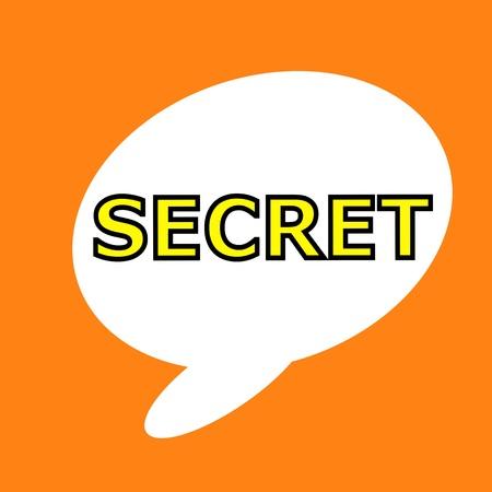 secret word: Secret wording speech bubble