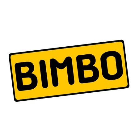 bimbo: BIMBO wording on rectangular signs Stock Photo