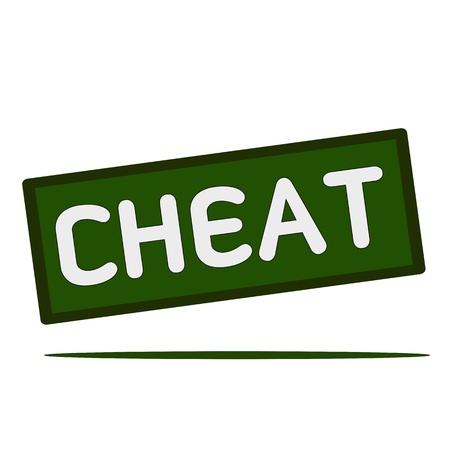 cheat: Cheat wording on rectangular signs