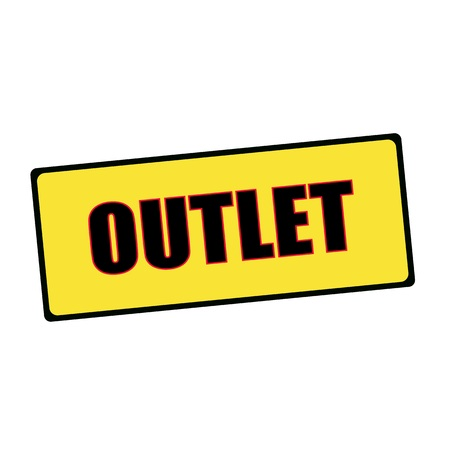 outlet: outlet wording on rectangular signs
