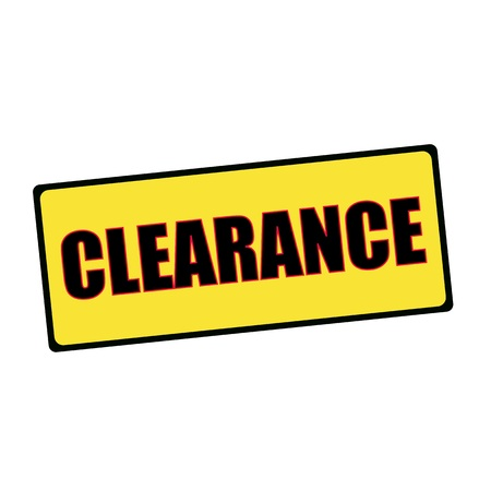 clearance: Clearance wording on rectangular signs