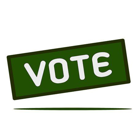 wording: VOTE wording on rectangular signs Stock Photo