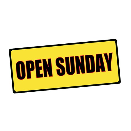 wording: open Sunday wording on rectangular signs