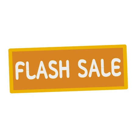 wording: Flash sale wording on rectangular signs