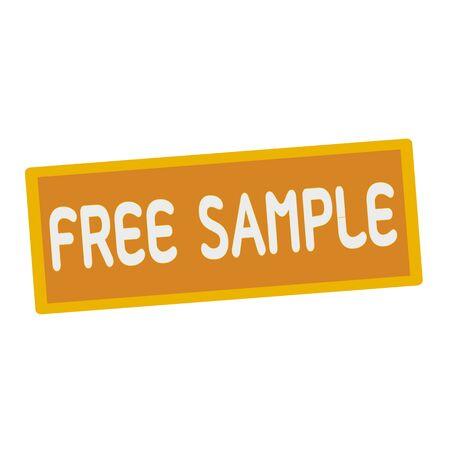 sample: Free sample wording on rectangular signs Stock Photo