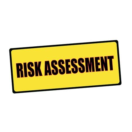 wording: risk assessment wording on rectangular signs Stock Photo