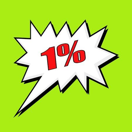 wording: 1 percent wording speech bubble