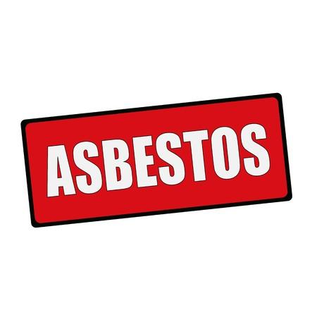 asbestos: ASBESTOS wording on rectangular signs Stock Photo