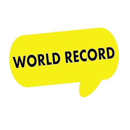 world record: WORLD RECORD wording on Speech bubbles yellow rectangular