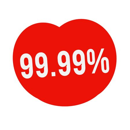 wording: 99.99 percent wording on Red Heart