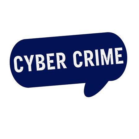 crime: Cyber Crime wording on Speech bubbles blue cylinder