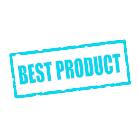 best product: best product wording on chipped Blue rectangular signs Stock Photo