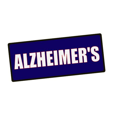 alzheimers: ALZHEIMERS wording on rectangular Green signs Stock Photo