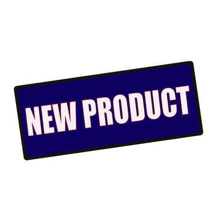 wording: New product  wording on rectangular Green signs Stock Photo