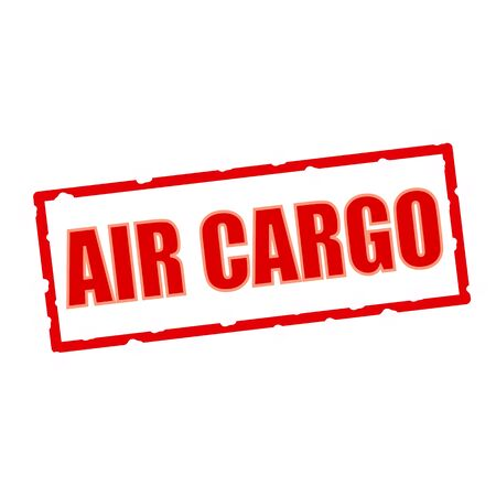 chipped: air cargo wording on chipped rectangular signs