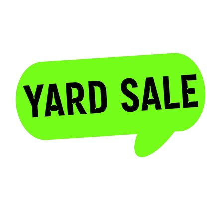 yard sale: yard sale wording on Speech bubbles green cylinder Stock Photo