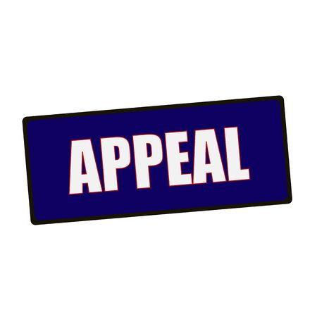 appeal: appeal wording on rectangular Green signs Stock Photo