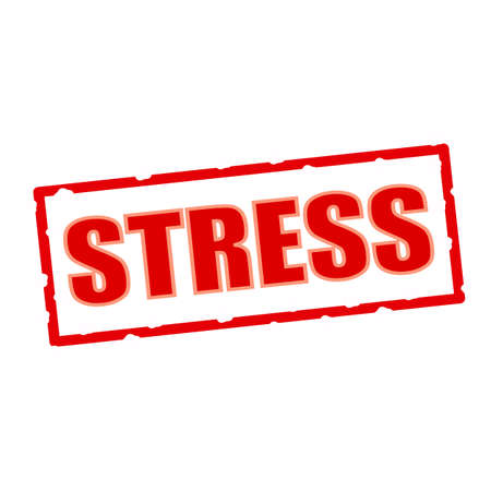 wording: Stress wording on chipped rectangular signs Stock Photo