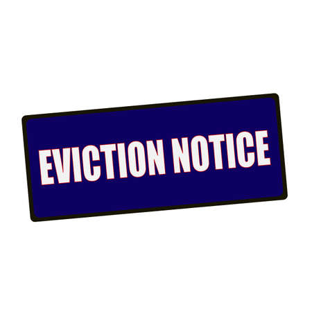 eviction: eviction notice wording on rectangular Green signs Stock Photo