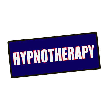 hypnotherapy: HYPNOTHERAPY wording on rectangular Green signs