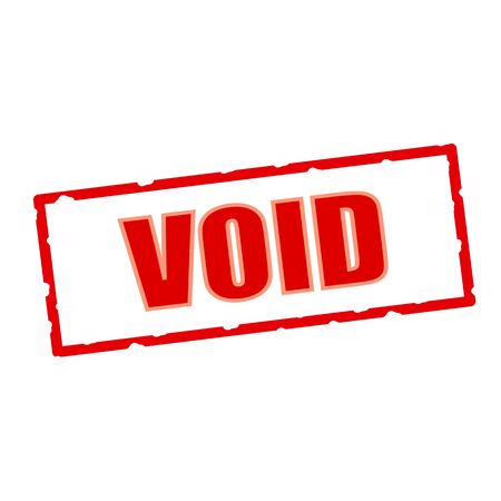 void: void wording on chipped rectangular signs Stock Photo