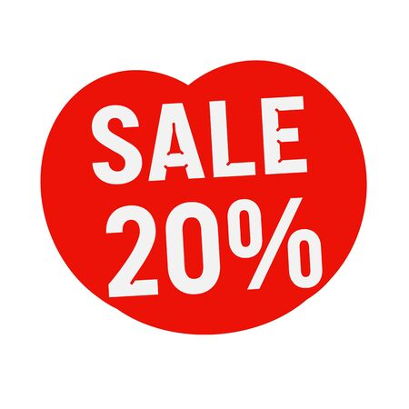 20: sale 20% percent wording on Red Heart