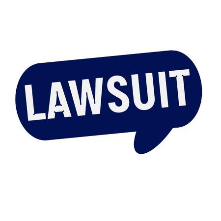 lawsuit: LAWSUIT wording on Speech bubbles blue cylinder