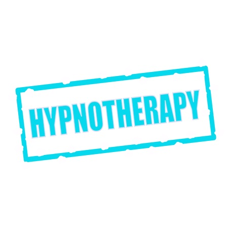 hypnotherapy: HYPNOTHERAPY wording on chipped Blue rectangular signs Stock Photo